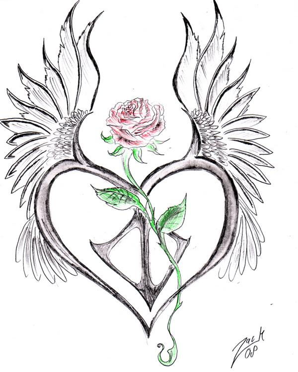 600x747 Roses Drawings With Hearts Free Download Clip Art Free Clip