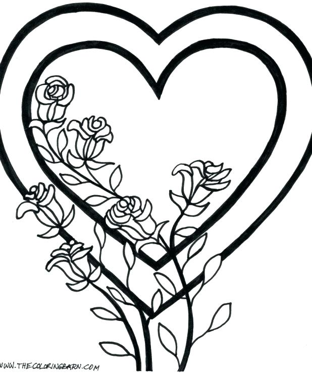 618x740 Coloring Pages Of Hearts Wings Heart Coloring Pages