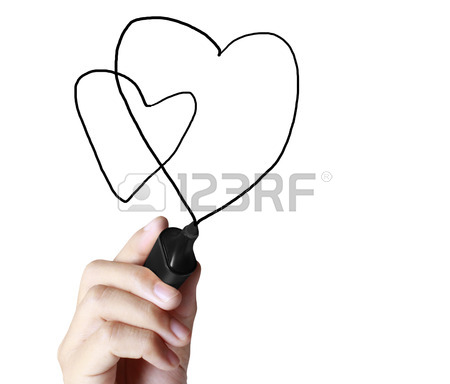 450x384 Hand Drawing Chart Heartbeat Stock Photo, Picture And Royalty Free