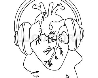 340x270 Heartbeat Tattoo Etsy