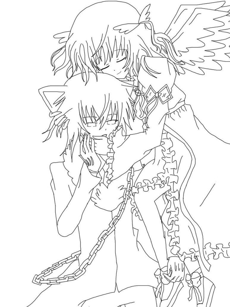 774x1032 Ikuto's Angel Lineart By Tsukiyomi Heartbeat