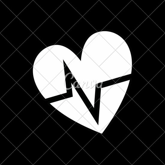 550x550 Line Nice Heartbeat To Cardiac Rhythm
