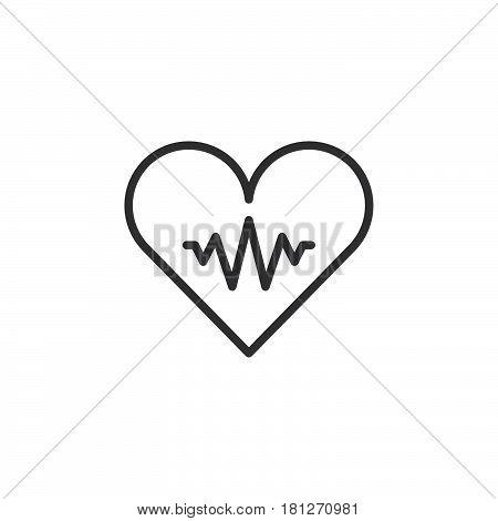 450x470 Pulse Heartbeat Line Icon Outline Vector Amp Photo Bigstock