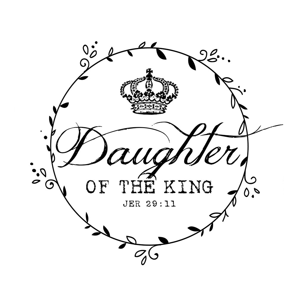1000x1000 Vinyl Wall Art Daughter Of The King God's Heartbeat