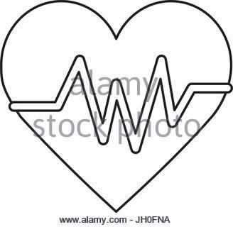 328x320 Line Heartbeat Sign Of Cardiac Rhythm Frequency Stock Vector Art