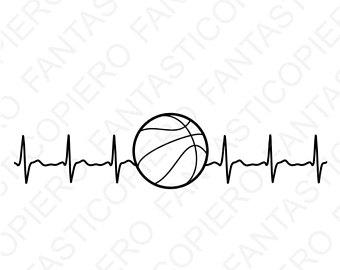 340x270 Basketball Heartbeat Etsy