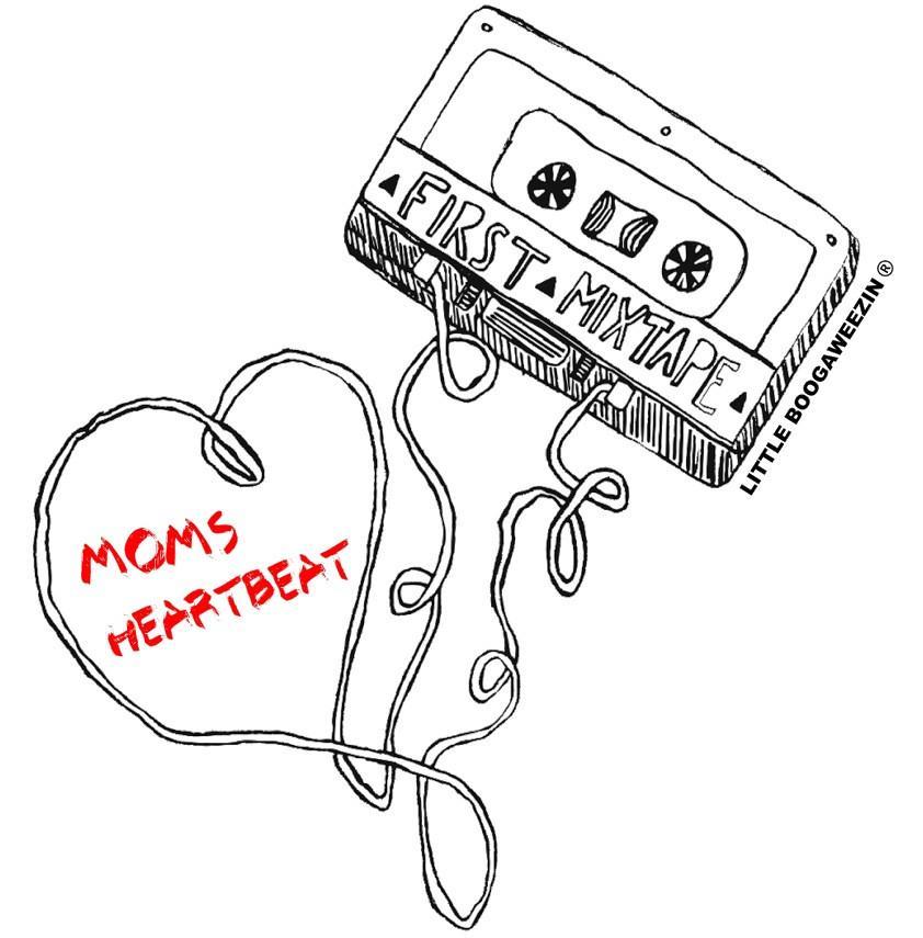 842x855 First Mixtape Moms Heartbeat Asphalt Baby One Piece The Lb Brand