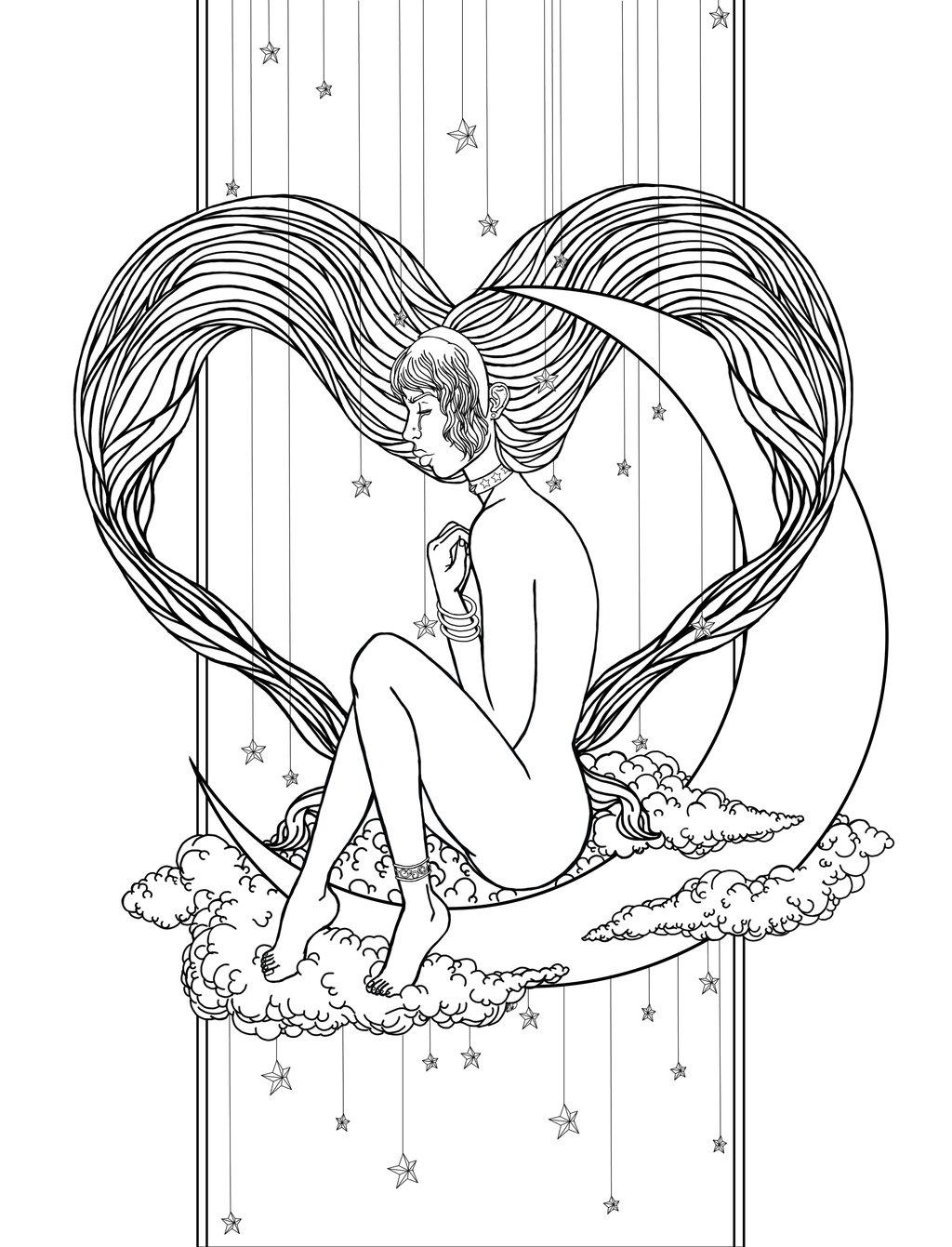 1024x1341 Heartbreak Under Staright Moon By Hellsong Diabla
