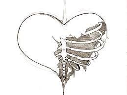259x194 Half Heart Draw Drawings, Drawing Ideas And Sketches