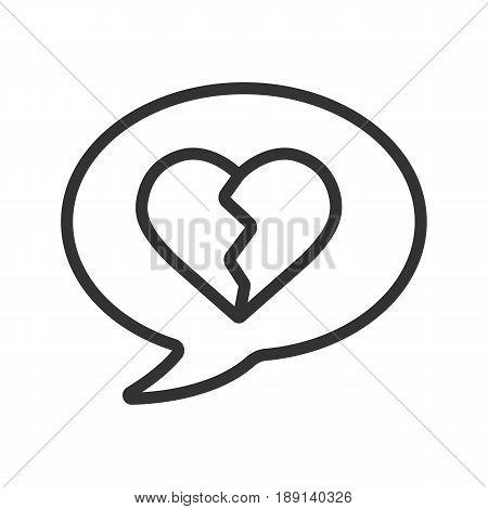 450x470 Breakup Message Linear Icon. Thin Vector Amp Photo Bigstock