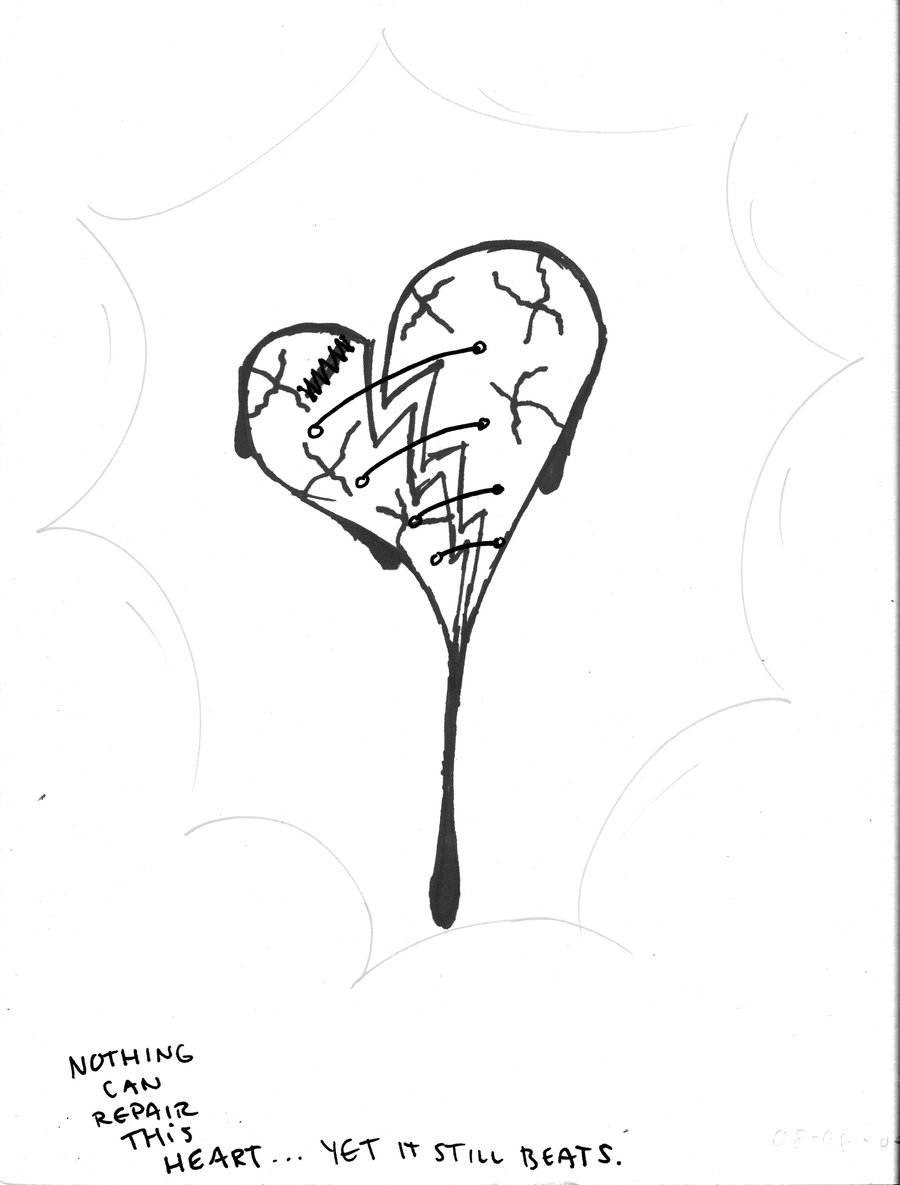900x1185 Black Broken Heart Broken Heart In Black N White By