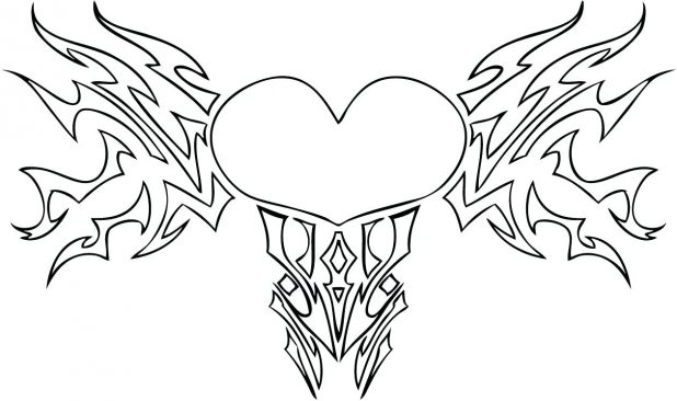 618x366 Coloring Pages Terrific Hearts And Roses Coloring Pages