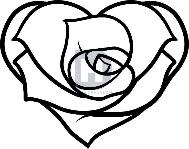 738x580 Gallery Love Drawings Hearts And Roses,