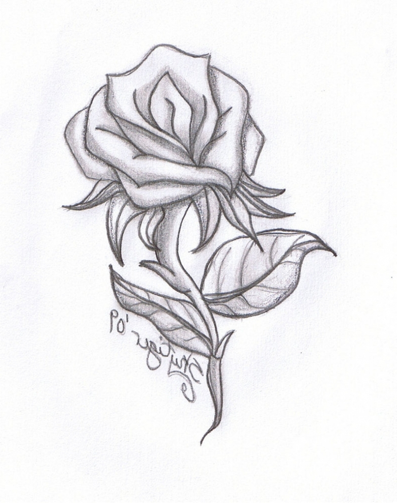 807x1024 Pencil Drawings Of Flowers And Hearts Flower Drawings