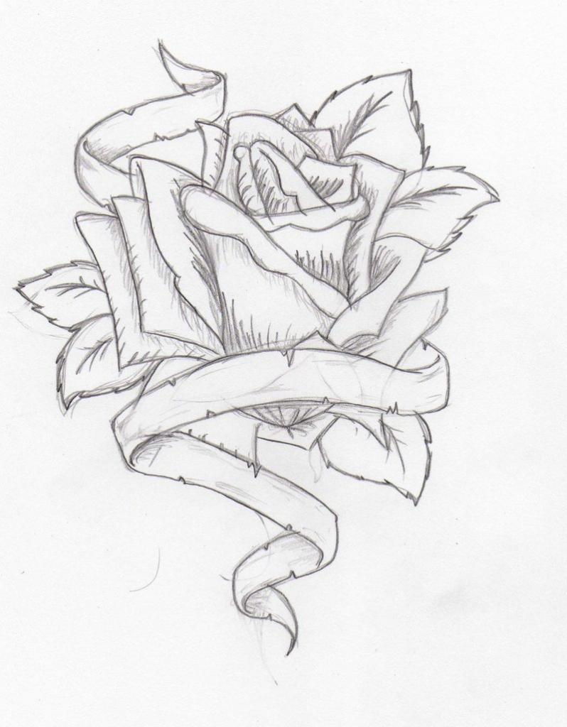 798x1024 Pencil Drawings Of Hearts Roses Pencil Drawings Of Flowers