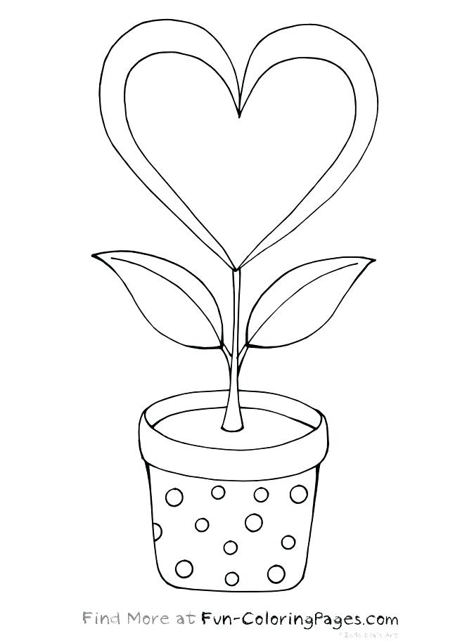 674x915 Pictures Of Hearts And Flowers To Color