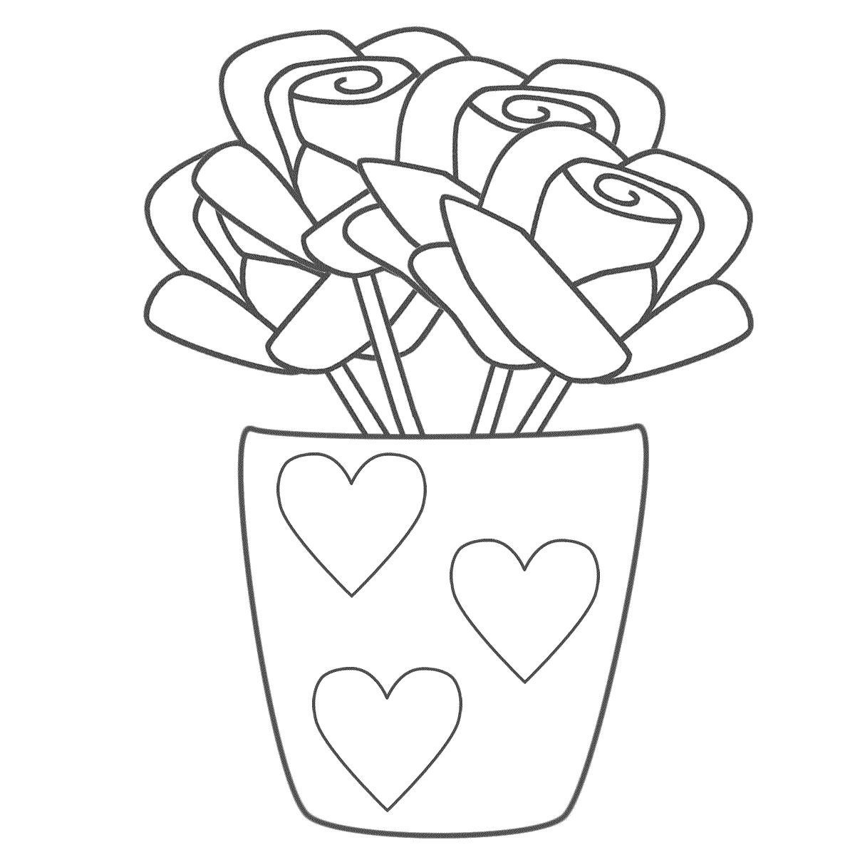 1200x1200 Coloring Pages Of Flowers And Hearts Free Printable Adult Pictures