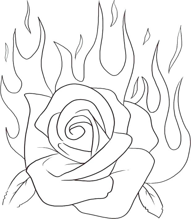 Hearts And Roses Drawing at GetDrawings