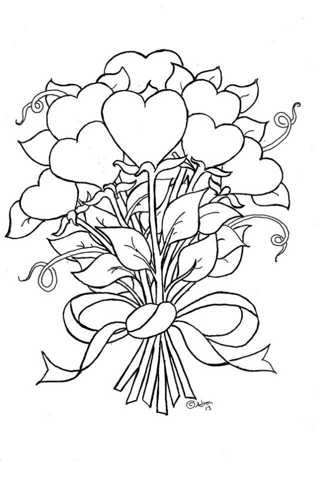 640x960 coloring pages coloring pages of roses and hearts hearts and