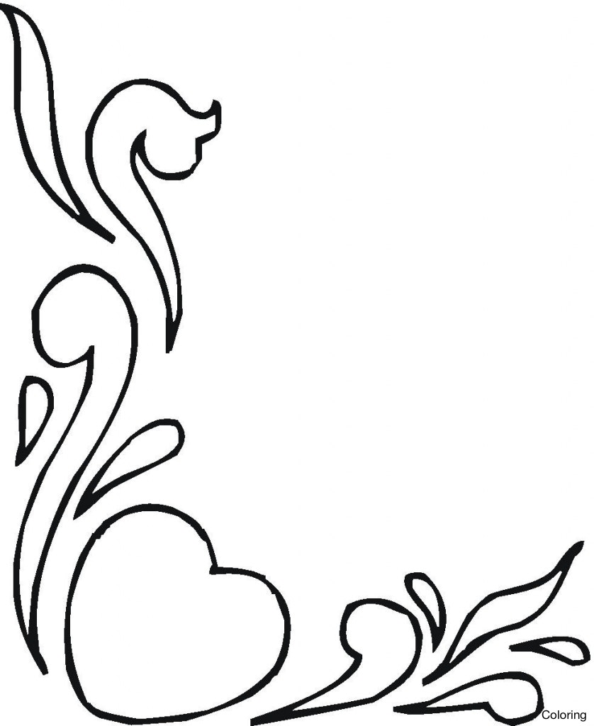 838x1024 Drawings Of Flowers Paintings Pencil Hearts With Ribbons