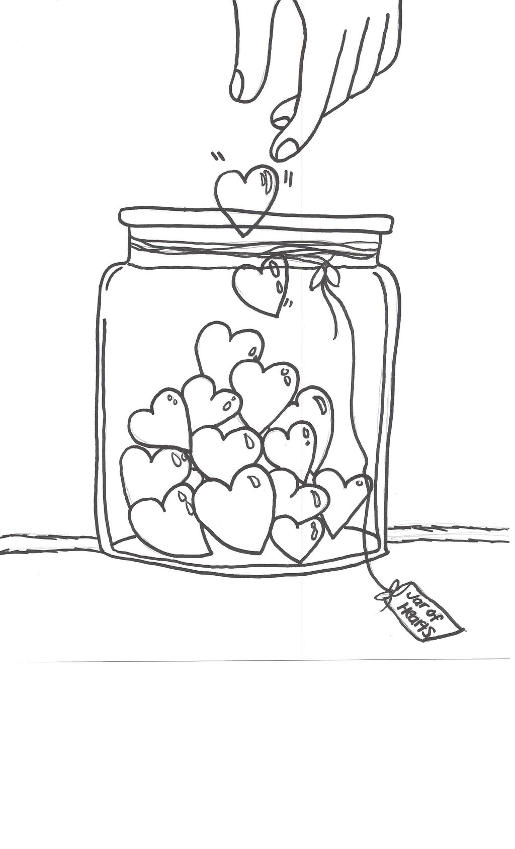 1024x1687 Jar Of Hearts Drawing By Julietcapulet432