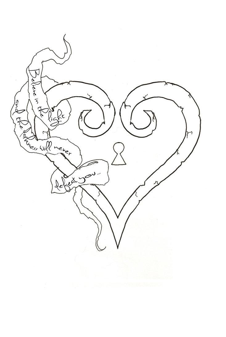 733x1090 Kingdom Hearts Design By X Falling Hearts X