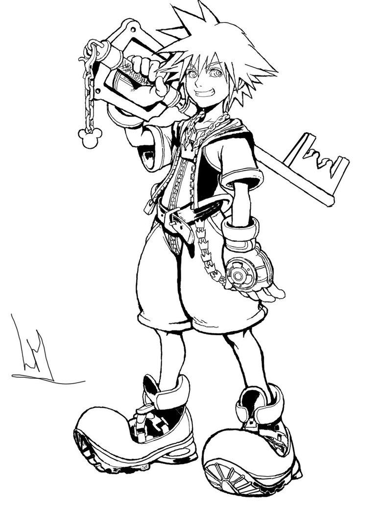 774x1032 Sora (Kingdom Hearts) Photoshop Drawing By Leonardhiggins1994