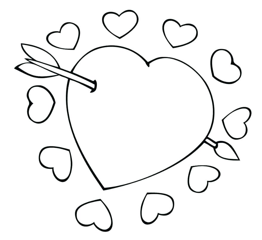 878x806 Awesome Heart Drawings Cfresearch.co
