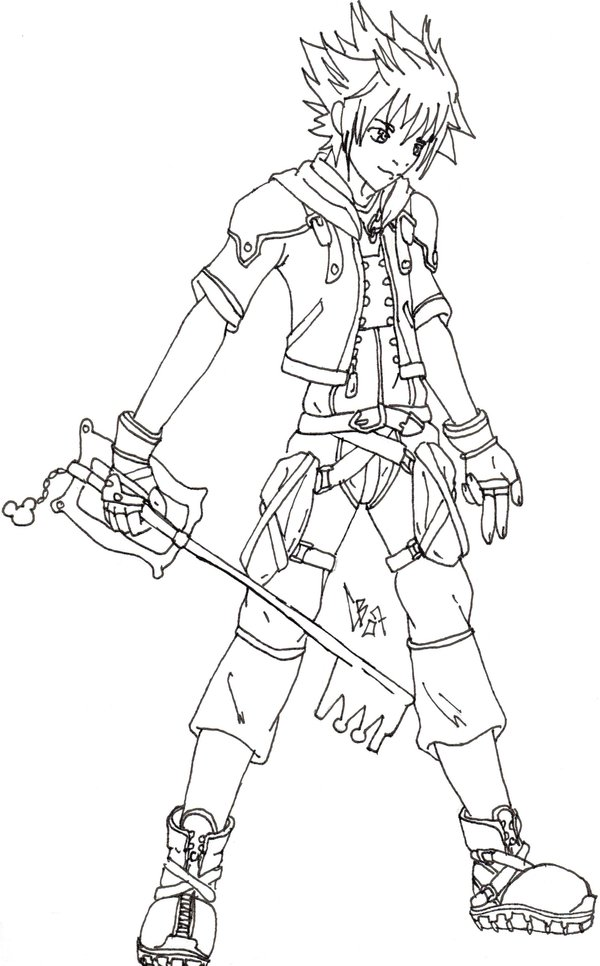 600x966 kingdom hearts 2 - Coloring Pages Hearts 2