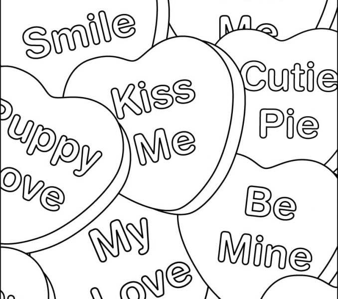 678x600 Valentines Day Pictures To Color Printable Coloring Pages