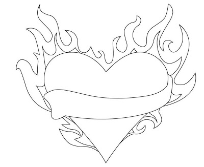 Hearts On Fire Drawing at GetDrawings.com | Free for personal use ...