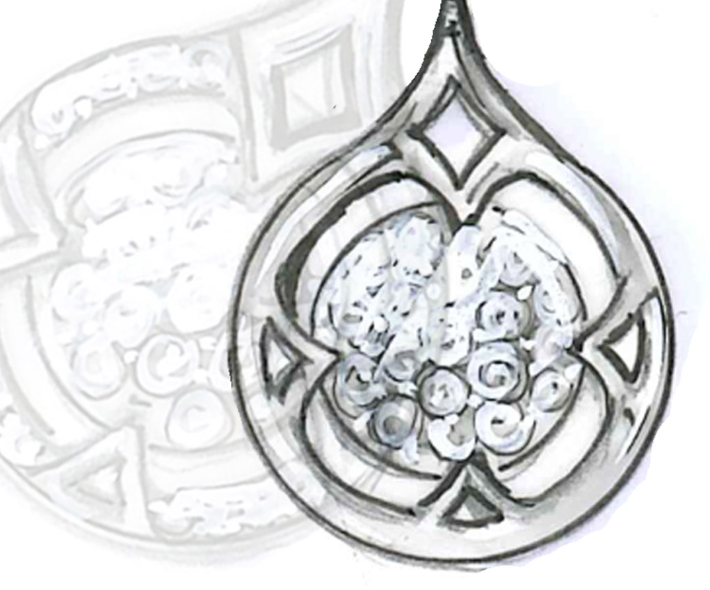 1021x848 Copley Pave Pendant Necklace Diamond, Diamond Pendant
