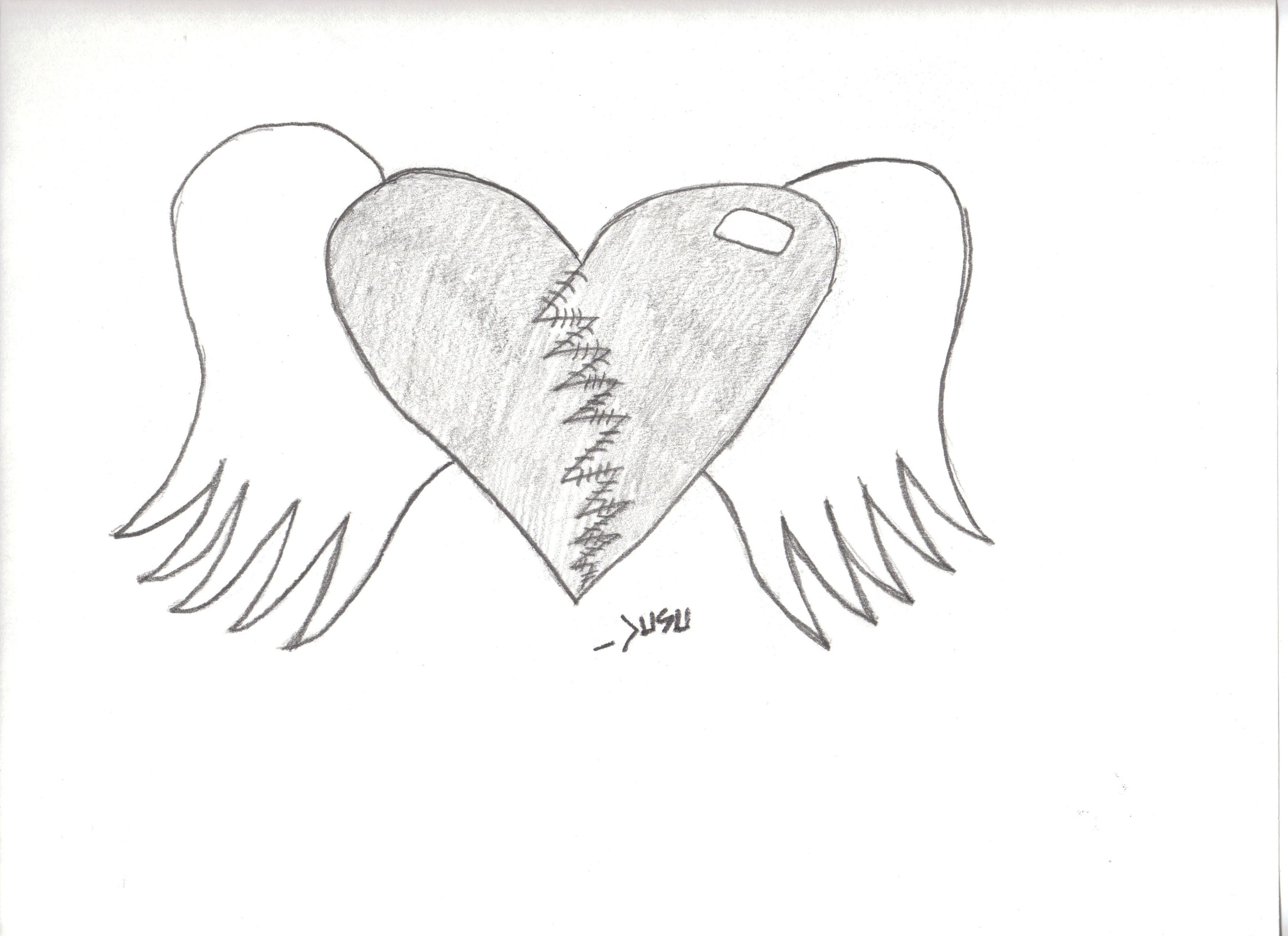 3510x2550 Graffiti Drawings Of Hearts With Wings