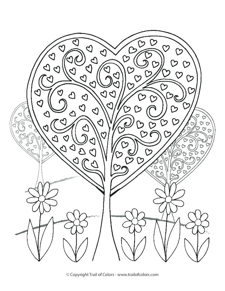 735x951 Heart Coloring Pages With Wings Coloring Page Of A Heart Heart