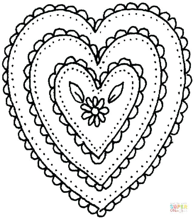 640x720 Hearts With Wings And Halo Coloring Pages Roses Sharp Thorn Page