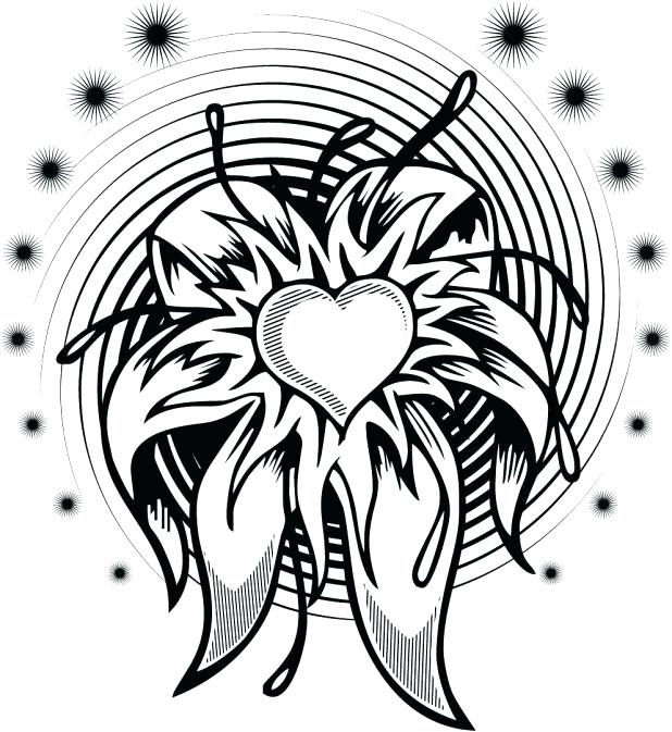 618x673 Hearts With Wings Coloring Pages. Great Coloring Pages Of A Heart