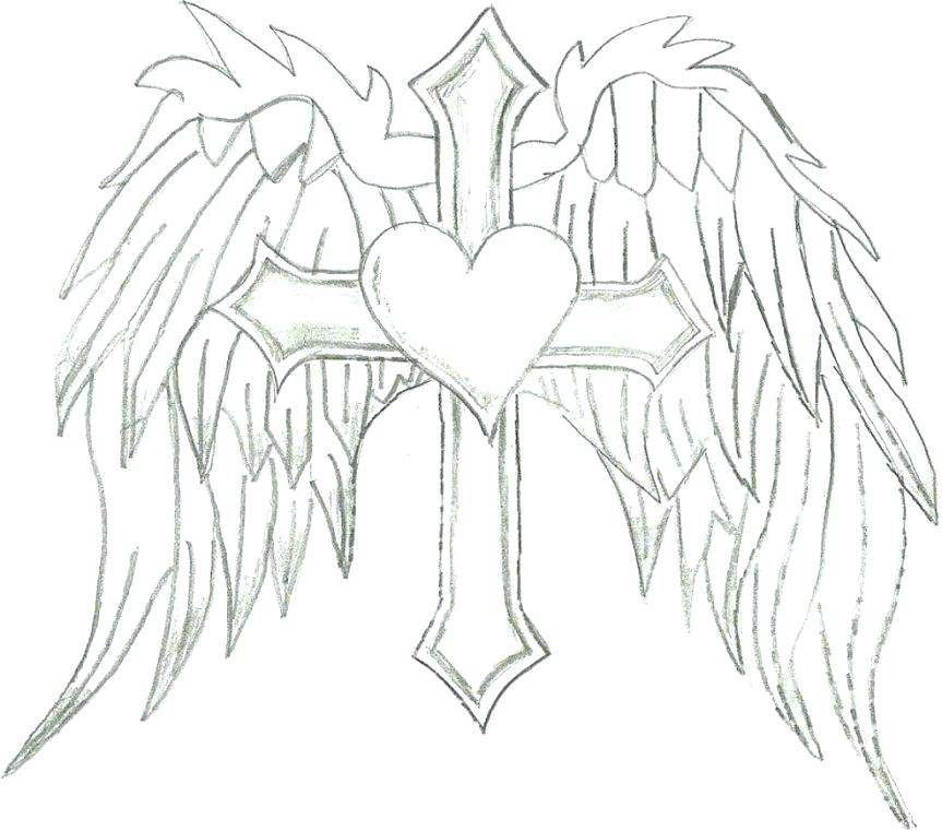 863x761 Wings Coloring Pages Coloring Pages Of Hearts With Wings Hearts