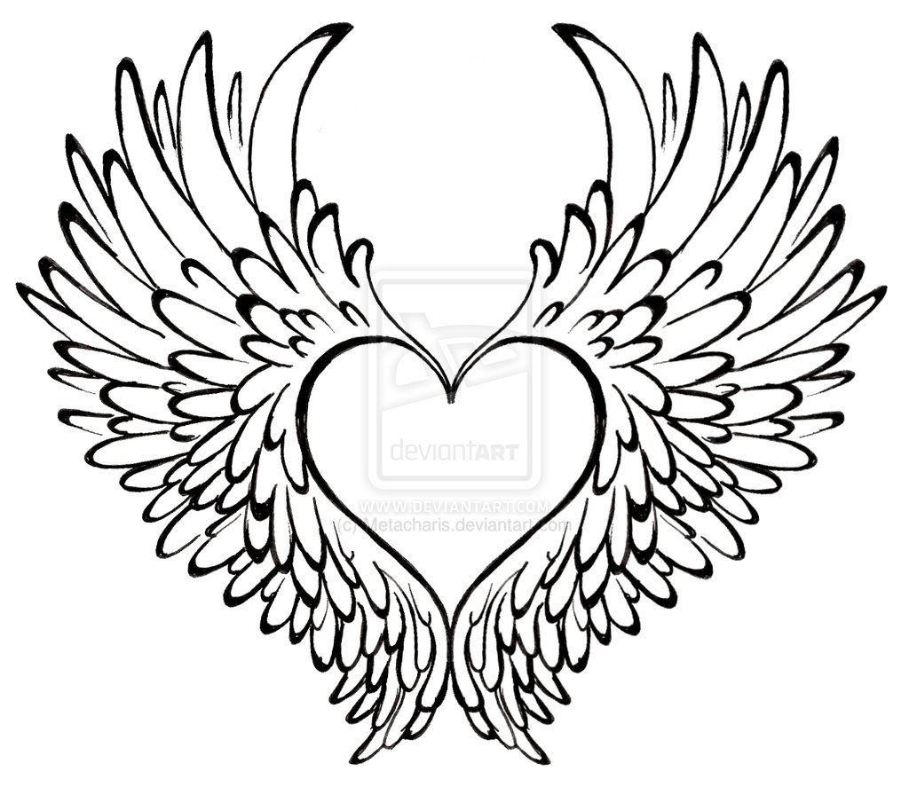 1024x887 Coloring Pages Of Hearts With Wings Coloring Page For Kids