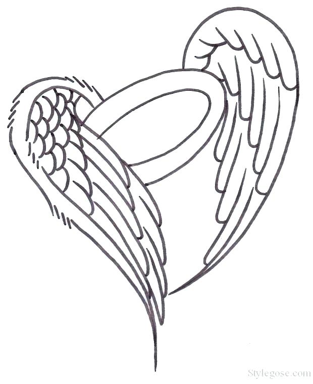 620x761 Heart With Wings Coloring Pages Synthesis.site