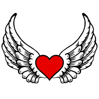 340x340 Broken Heart With Wings Clipart