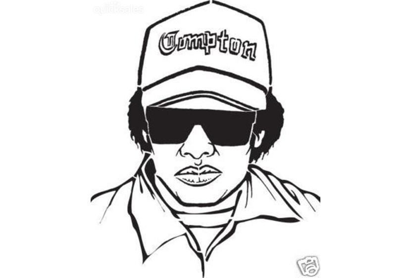 830x562 Winning How To Draw Eazy E Dr Dre Rap Nwa Hip Hop Iron On Transfer