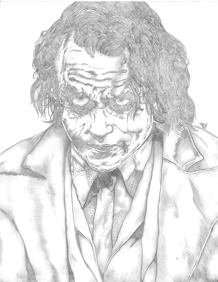 742x960 Heath Ledger As The Joker By Artoftyph