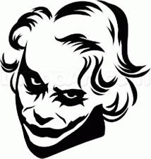 214x225 Joker Batman Dark Knight Heath Ledger Vinyl Decal Sticker Bumper