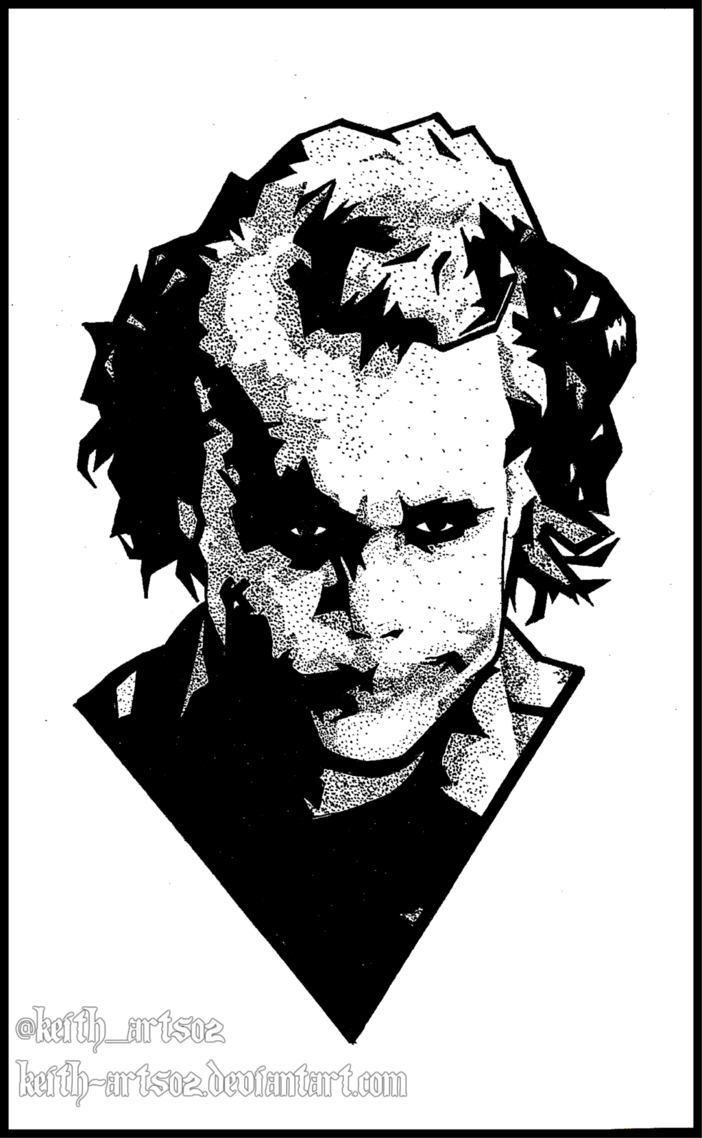 702x1138 Joker ~ Heath Ledger ~ Doodle By Keith Arts02