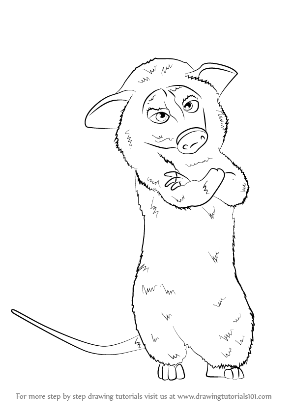 596x843 Learn How To Draw Heather From Over The Hedge (Over The Hedge