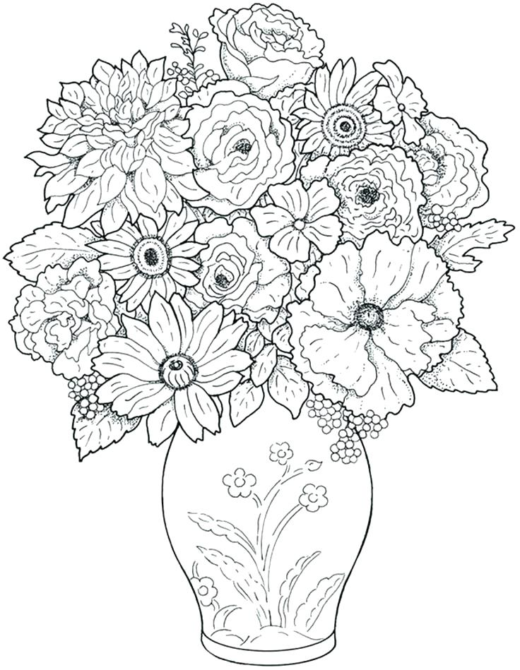 736x949 Elegant Garden Flowers Coloring Pages Print Heather Smith Never Be