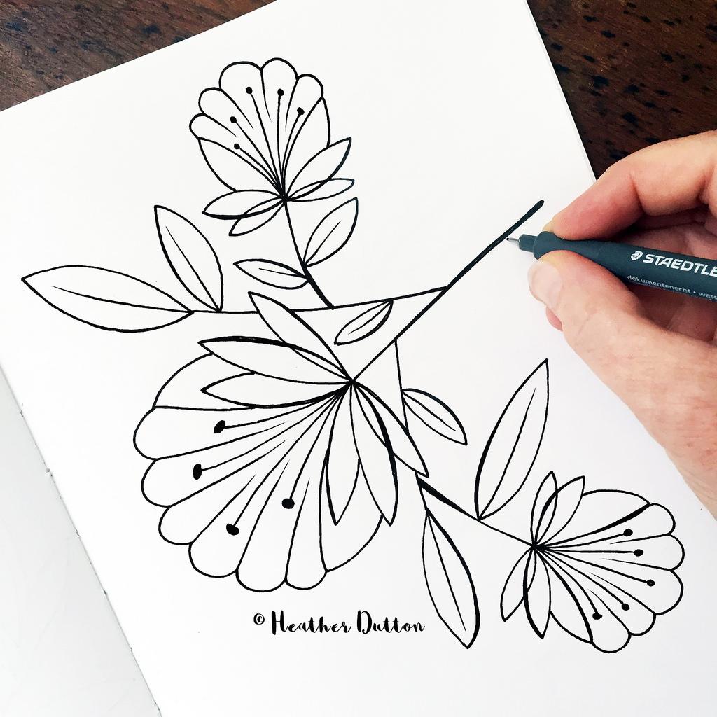 1024x1024 Fan Flowers Sketchbooks
