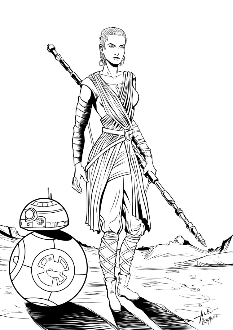 752x1063 Resultado De Imagen De Star Wars Rey Pencil Drawings Star Wars