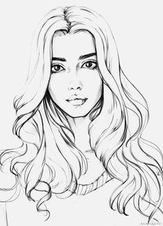 236x326 Art, Beautiful, Famous, Girl, Cute, Drawing, Tags, Face, Sketch