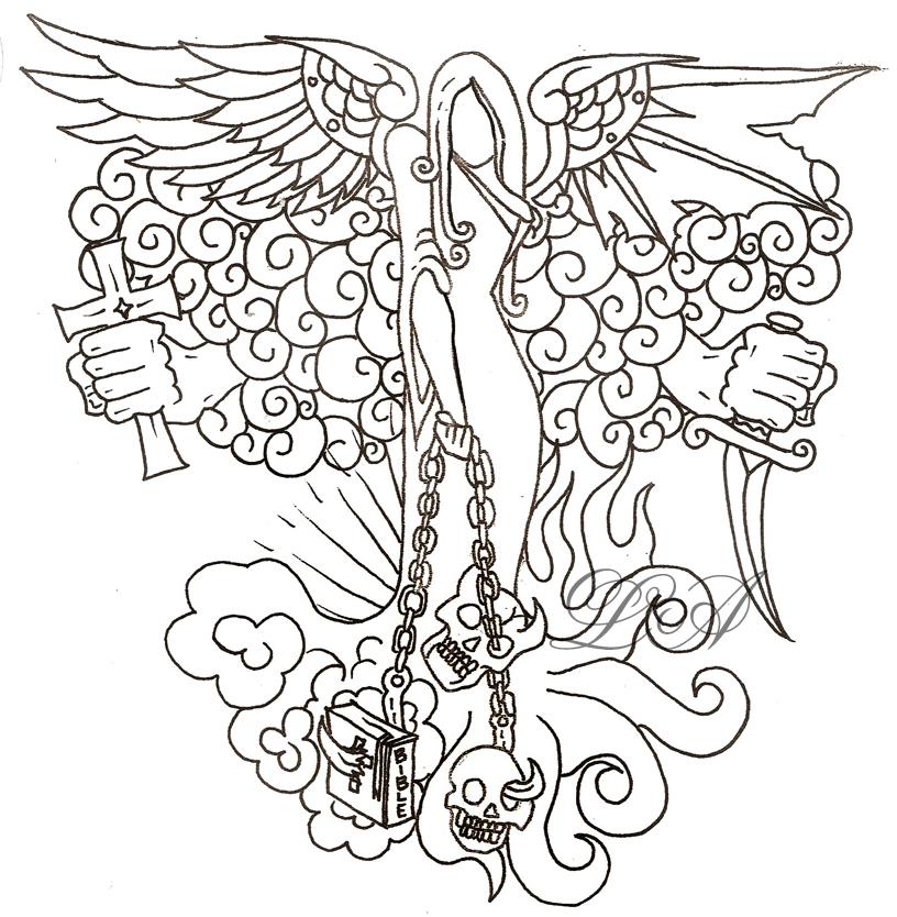 816x834 Heaven Hell Theme. By Msiisjesus